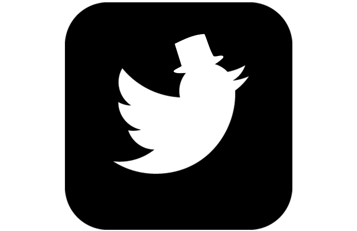 Een Twitter afbeelding in een van de kleuren van de Spreekstalmeester. Leuk dat vogeltje met hoed!